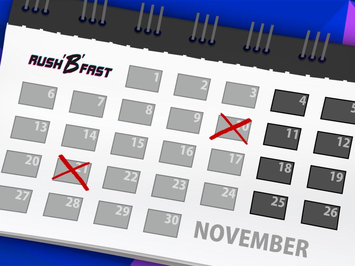 rush'B'fast Release-Kalender: November