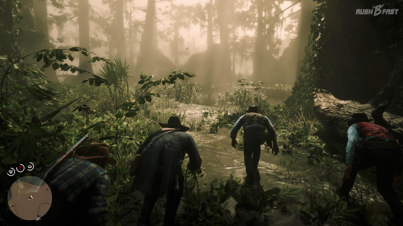 Red Dead Redemption 2: Im Sumpf von Lagras sollte man genau hinschauen, wohin man tritt!