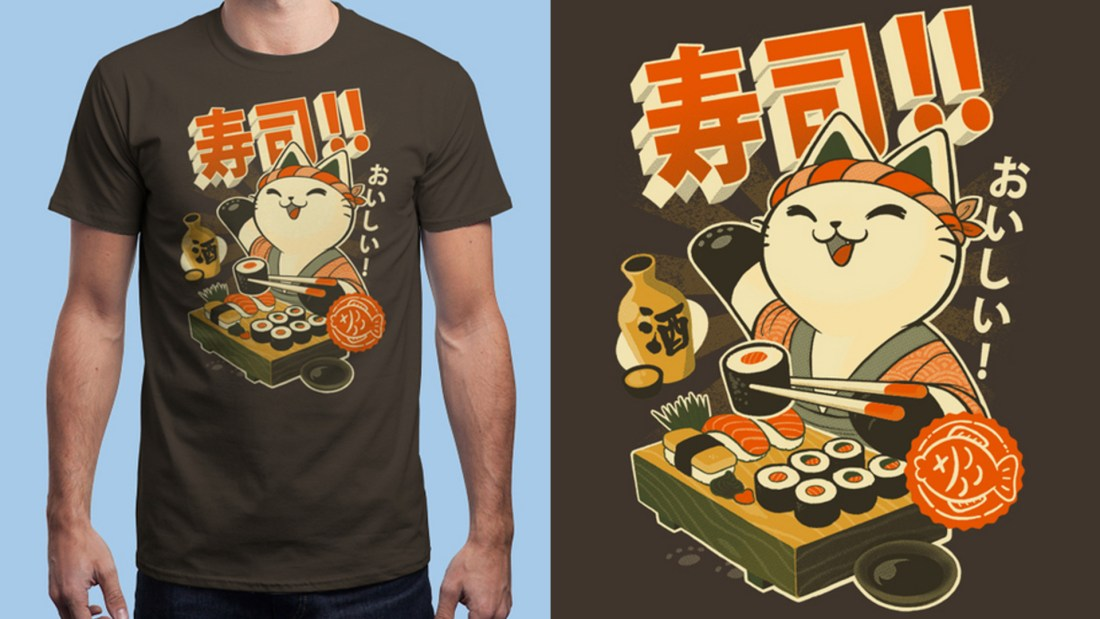 Quelle: Qwertee - SUSHI CHEF by BlancaVidal