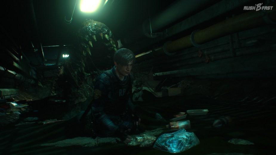 Resident Evil 2 - Das G-Virus verwandelt nicht nur Menschen in Zombies, es mutiert auch Reptilien, wie diesen Alligator, in mächtige Bestien.