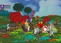 Castle Crashers - Als lilafarbener Ritter im Kampf gegen Killer-Bienen an der Seite des Königs.