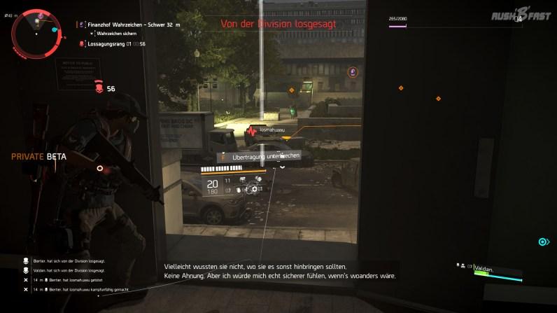 Tom Clancy's The Division 2 (CB) - In den Dark Zones können wir, wie auch schon im Vorgänger, gegen andere Spieler in den Kampf ziehen.