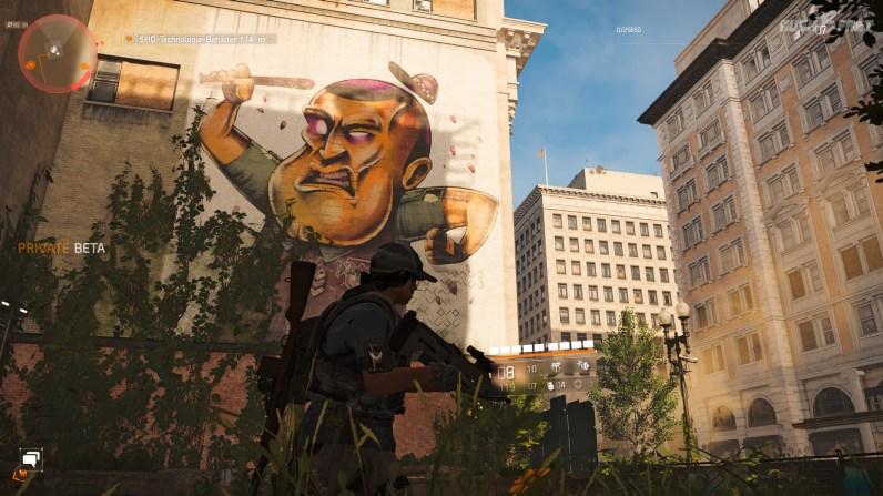 Tom Clancy's The-Division 2 (CB) - Umschauen lohnt sich: Washington D.C. ist voller Graffiti und fantastischer Streetart.