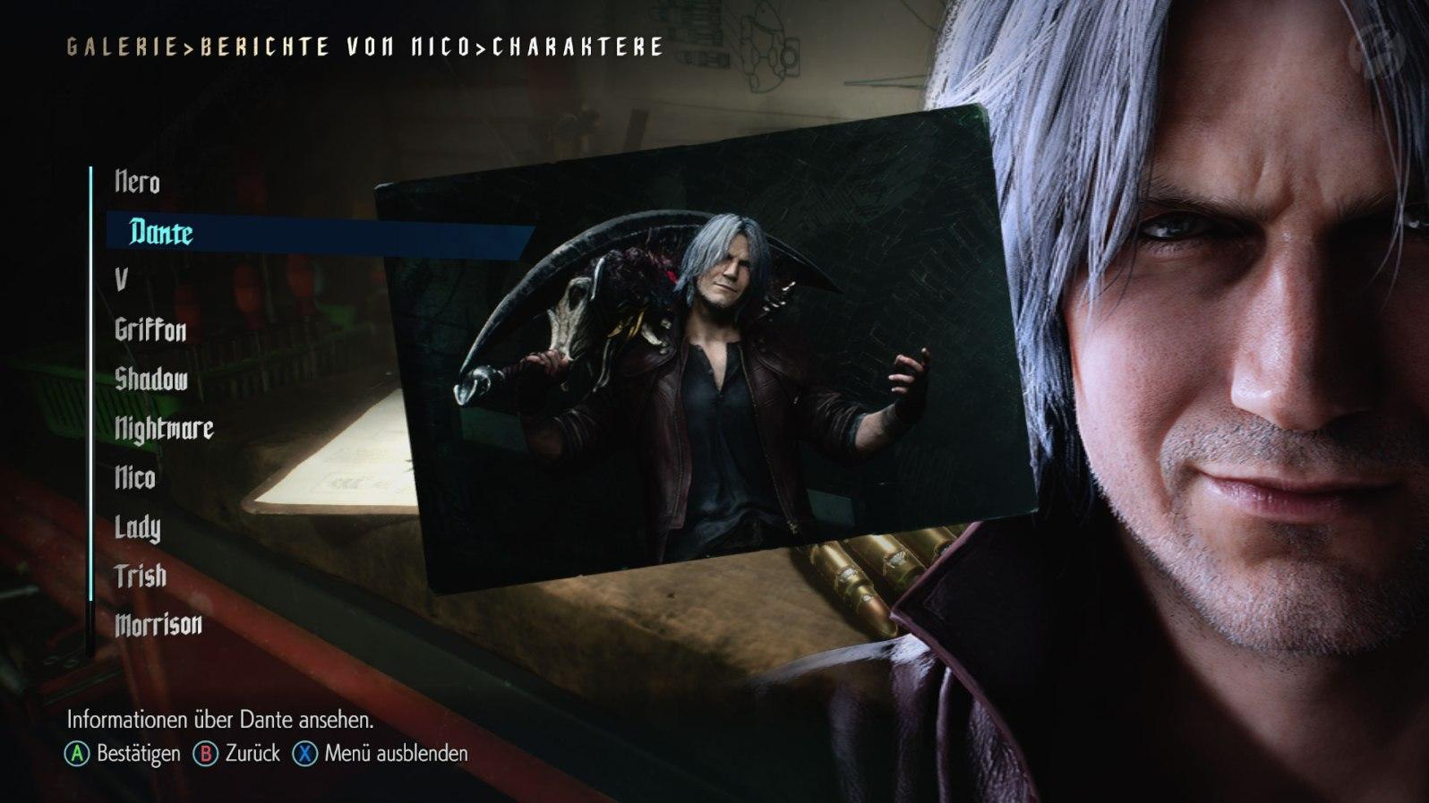 Devil May Cry 5: Berichte von Nico - Informationen zu Dante