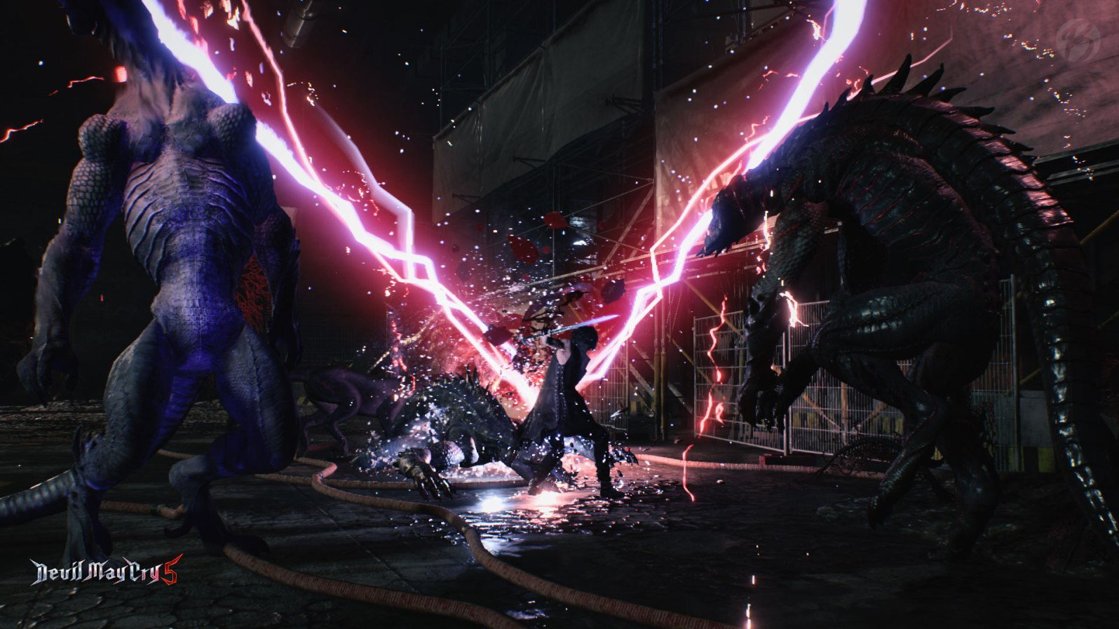 Devil May Cry 5: V-Signature-Move! Tierbegleiter Griffon lässt den V-förmigen Zauber auf die Gegner los.