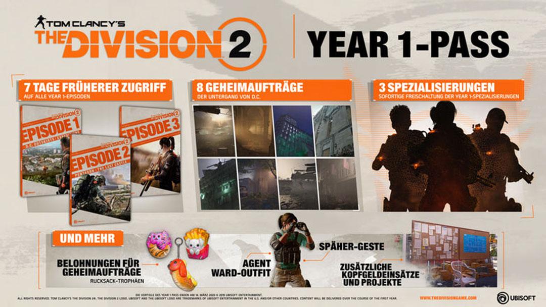 Tom Clancy's The Division 2 - Der neue Season Pass verrät bereits, dass wir in Washington D.C. noch viel erleben werden.