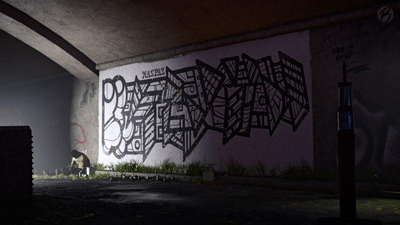 Tom Clancys The Division 2 - Gut grundiert ist halb gewonnen! Ein Kunstwerk von Streetart Künstler MasPaz, aufgewachsen im echten Washington, D.C.
