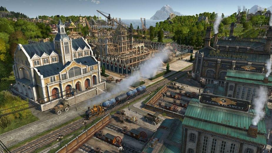 Anno 1800 - Die neuen Züge in Anno 1800 sind wunderschön geworden und ich freue mich jedes Mal, wenn gerade wieder einer über den Bildschirm rollt.