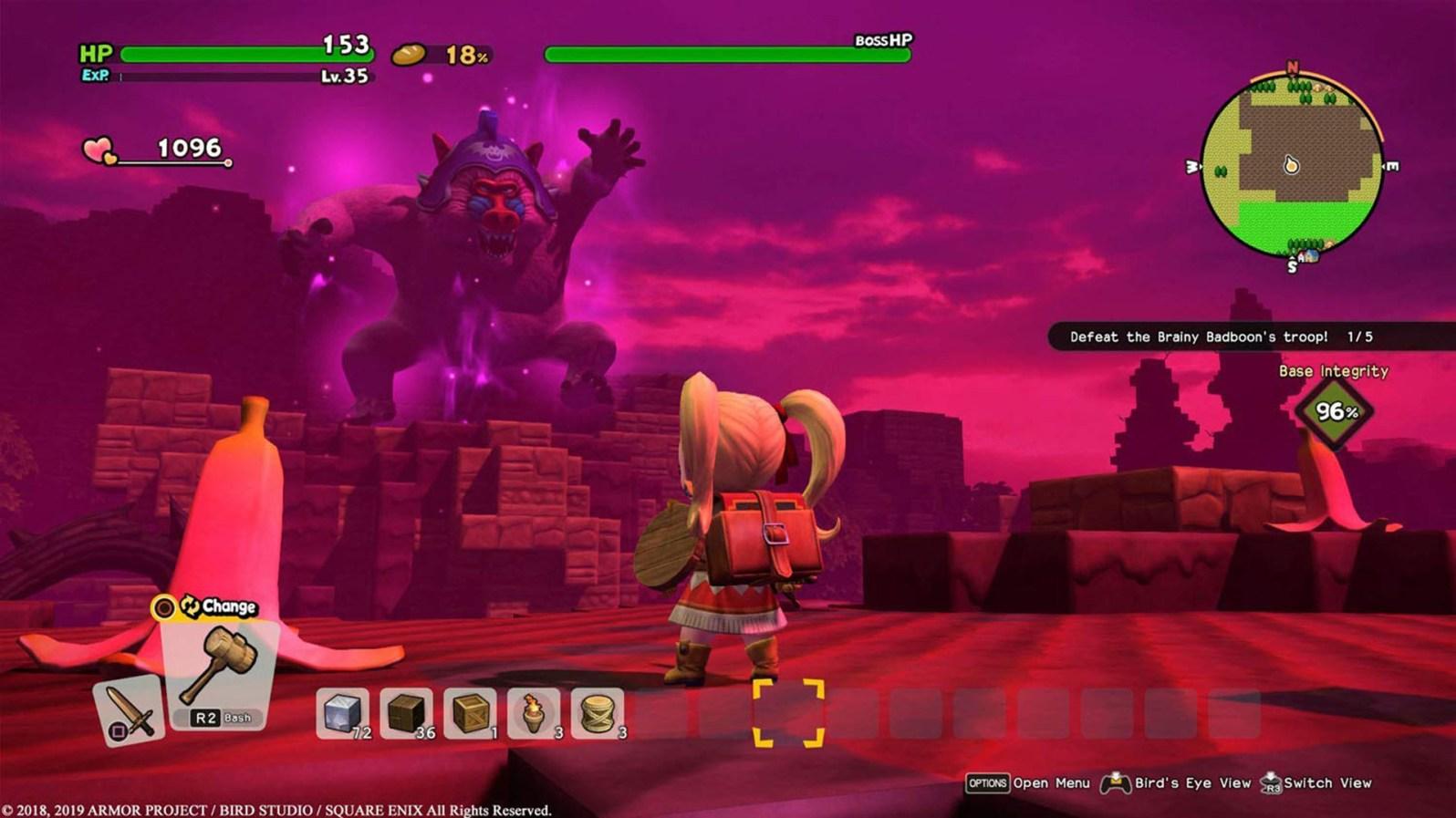Quelle: Square Enix - Dragon Quest Builders 2 - Boss in Mandrill-Optik