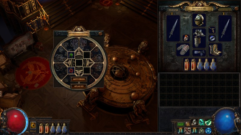 Quelle: Grinding Gear Games - Path of Exile: Legion - Neuer Kartentisch mit fünf Fächern.