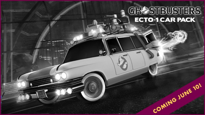 Quelle: Psyonix - Rocket League - Radical Summer -Ghostbusters Ecto-1 Car Pack