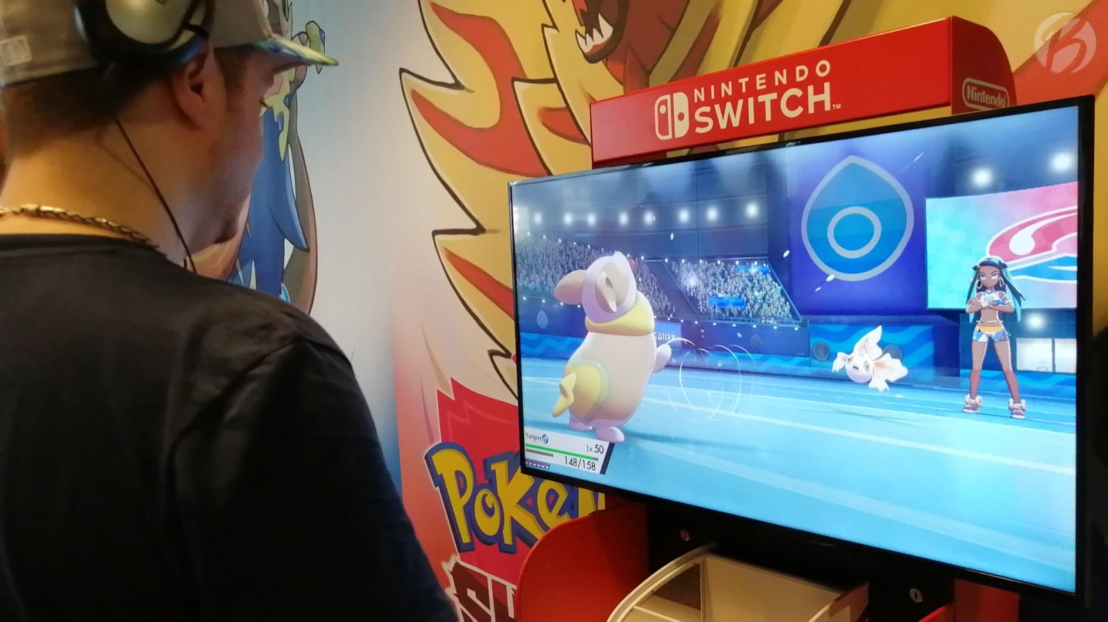 Angespielt: Pokémon Schwert und Schild - Unser Yamper gegen Nessas Goldeen.