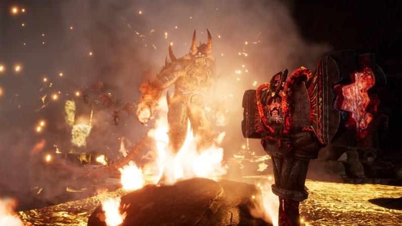 Fast schon wie der legendäre Balrog aus Mittelerde steht dieser Dämon vor uns.