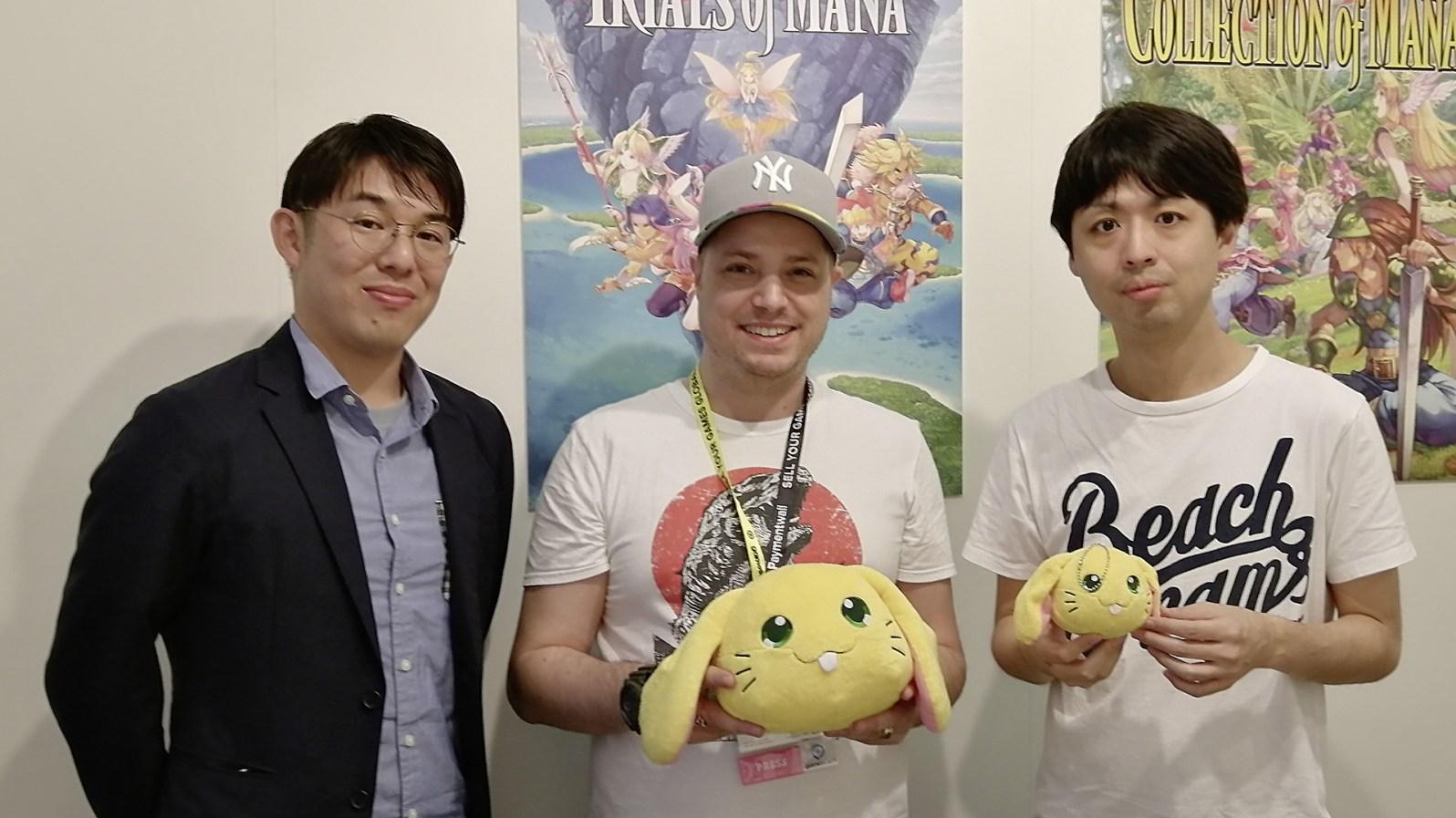 Ich habe für Euch die beiden Trials of Mana Producer Masaru Oyamada (links) & Shinichi Tatsuke (rechts) interviewen dürfen.