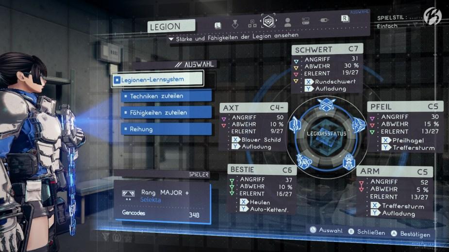 Im späteren Spielverlauf, sollten alle Legion optimal anwählbar und ausgerüstet sein.