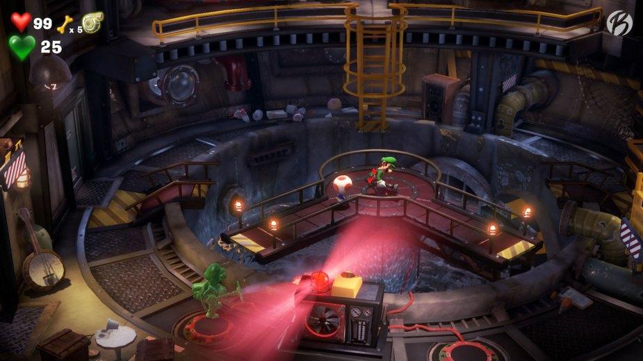 Luigi's Mansion 3 - Hier ist wieder Teamwork nötig, denn nur so können wir den Weg zu unserem Ziel ausrichten.