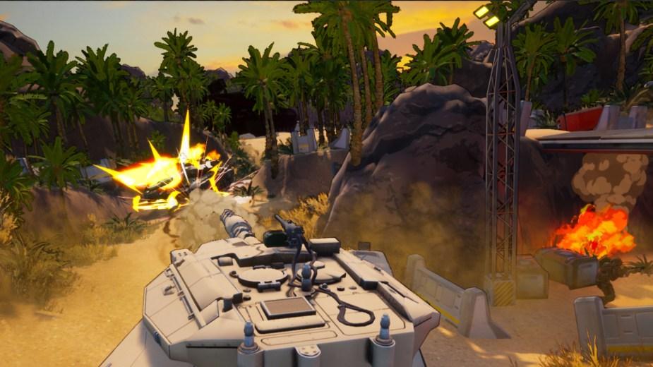 Earthbreakers - Mit den unterschiedlichen Panzern kämpfen wir uns bis an die Front heran.