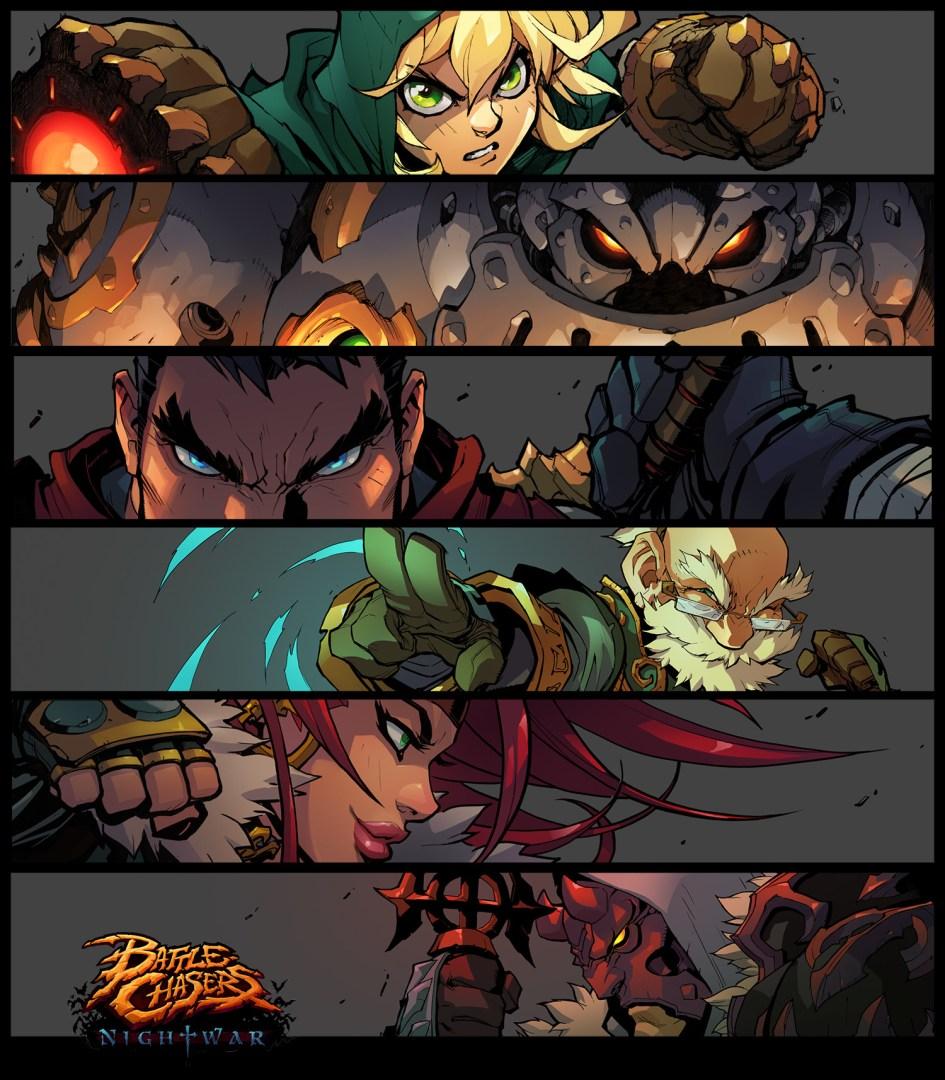 Quelle: artstation - Grace Liu - Quelle: artstation - Grace Liu - Battle Chasers: Nightwar (bc-banners