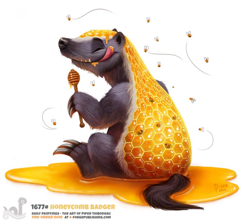 Quelle: artstation - Piper Thibodeau - Honeycomb Badger