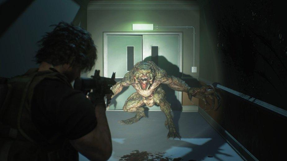 Quelle: Capcom - Carlos im Kampf gegen einen Hunter