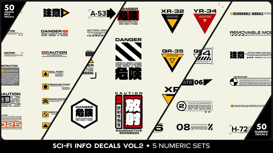 Andrian Luchian - SCI-FI Info decals set