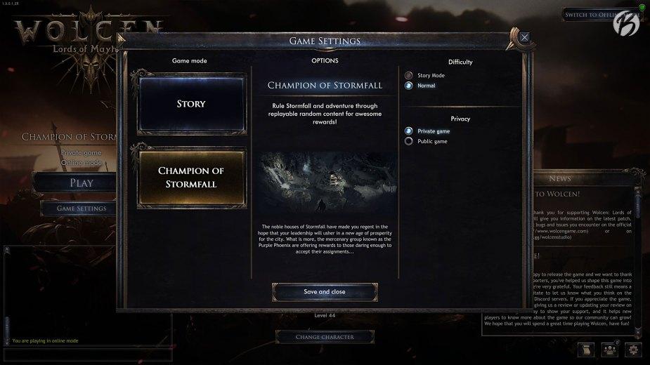 Mit dem zweiten Charakter kann man direkt in den Champion-Modus einsteigen.