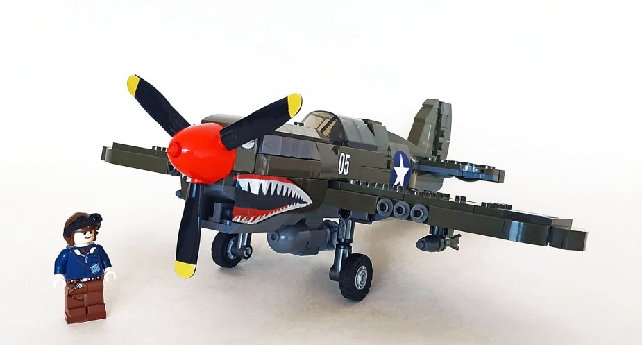 Quelle: flickr - John C. Lamarck - Curtiss P-40F Warhawk (Sembo rebuild)