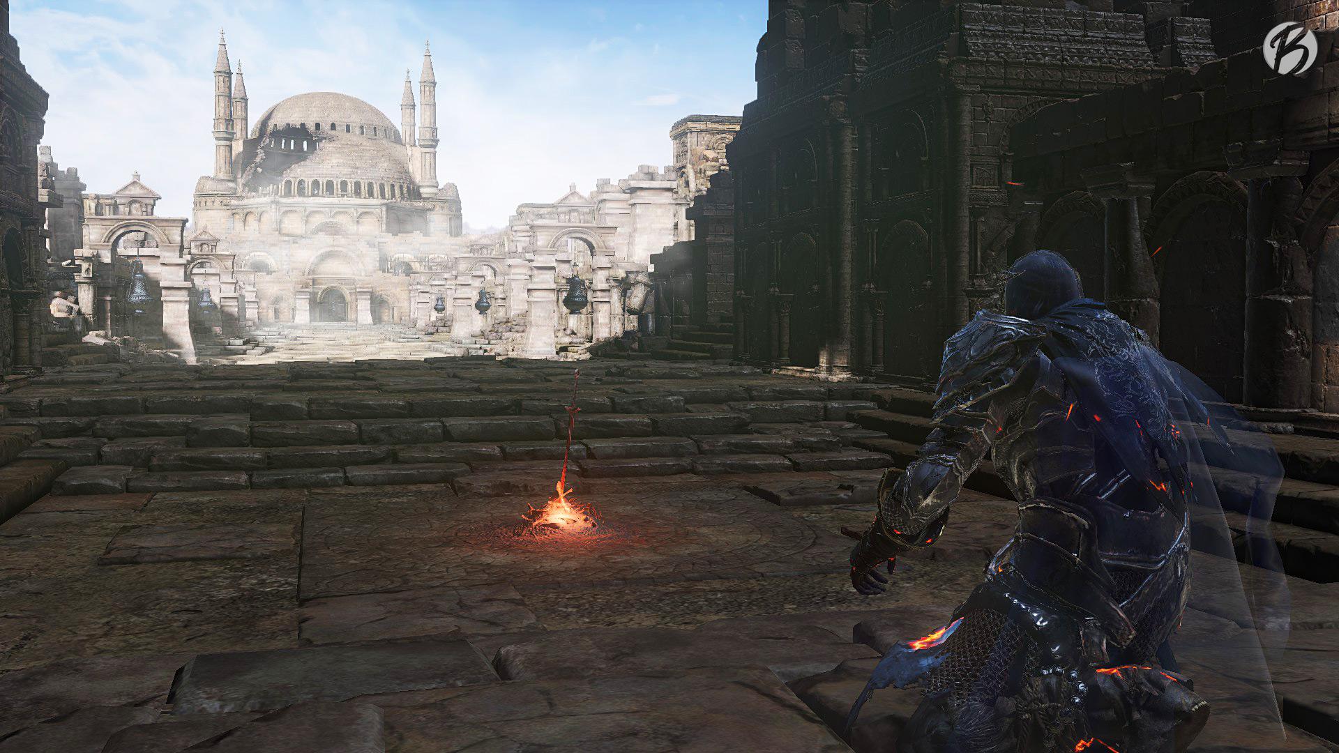 Dark Souls 3 - Bonfire vor Nameless King Boss