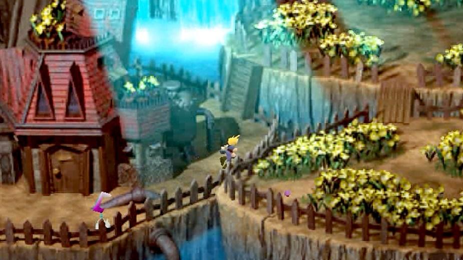 FINAL-FANTASY-VII - Aerith Haus mit Garten (1997)