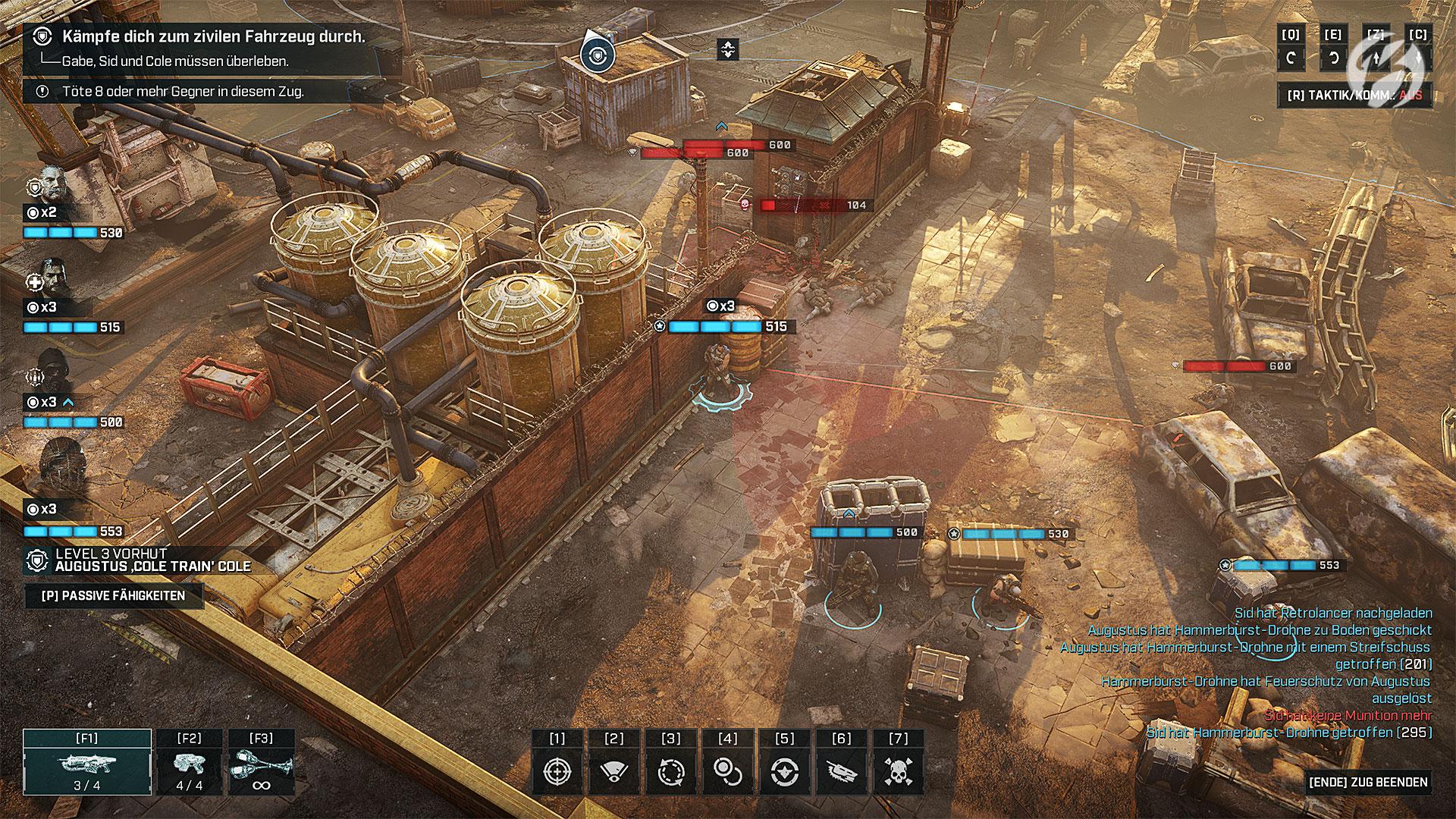 Gears Tactics - Eine gute Deckung ist das A und O.