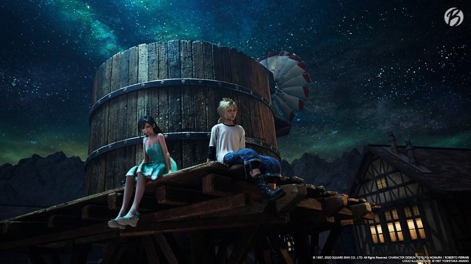 FINAL FANTASY VII (Remake) - Tifa und Cloud als Kinder in Nibelheim.
