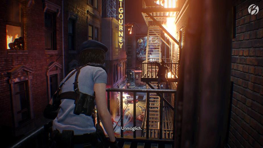 RESIDENT EVIL 3 (Remake) - Flucht über die Feuerleiter.