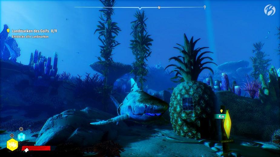 Maneater - Wie geil! Wer wohnt in 'ner Ananas ganz tief im Meer? Saugstark und gelb und porös ...