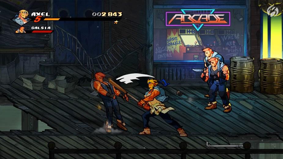 Streets of Rage 4 - Mit den Waffen der Gegner ist nicht zu spaßen.
