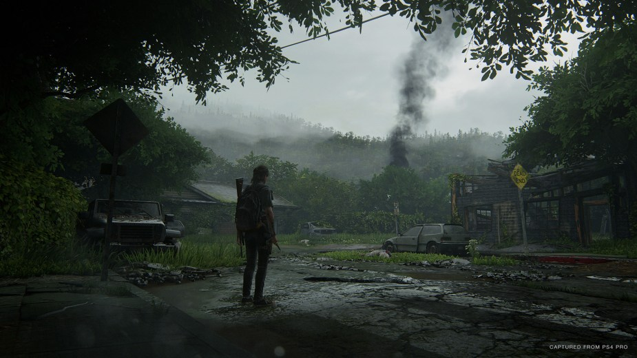Quelle: SIE - The Last of Us Part II - Verdächtiger Rauch: Absturzstelle oder Banditenlager?