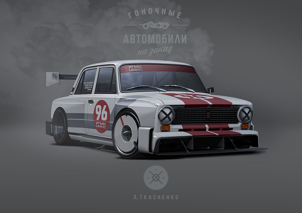 Quelle: Artstation - Andrey Tkachenko - VAZ-21011 Racing Ring