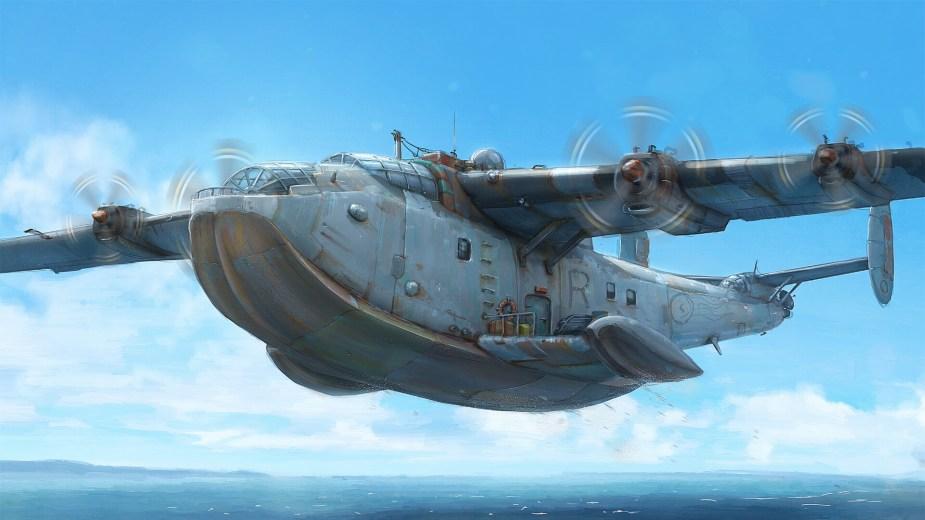 Quelle: Artstation - Hamish Frater - Seaplane takeoff