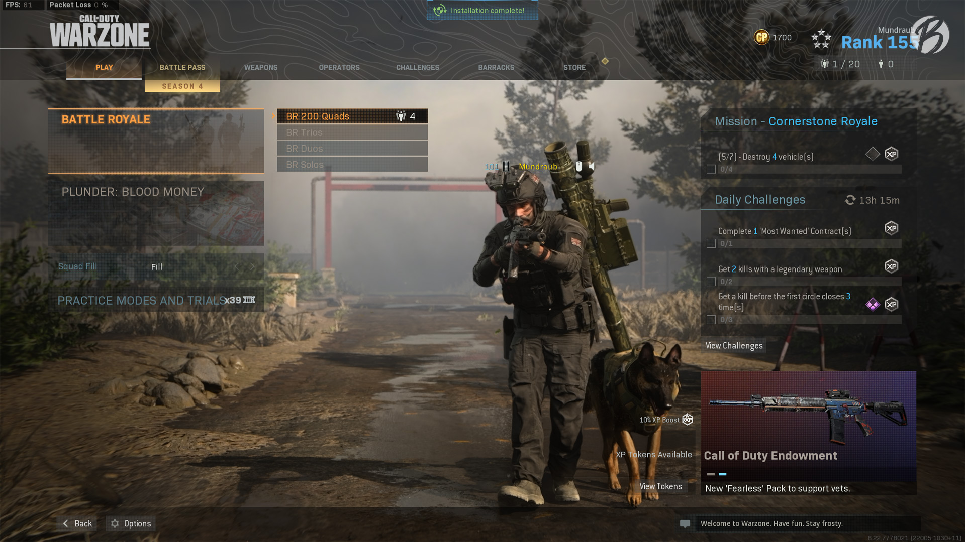 Call of Duty: Modern Warzone - Über dieses Battle-Royale-Menü gelangt Ihr in den neuen Spielmodus.
