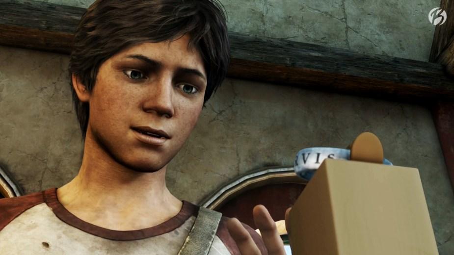 Uncharted 3: Drakes Deception - Der junge Nathan Drake entdeckt den Ring in einem Museum.