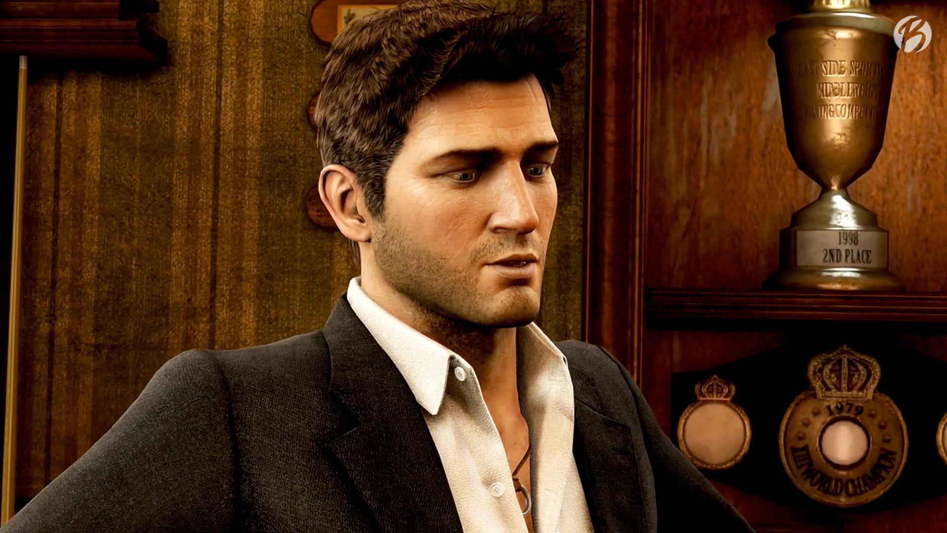 Uncharted 3: Drakes Deception - Nathan Drake mit dem markanten Ring um den Hals.