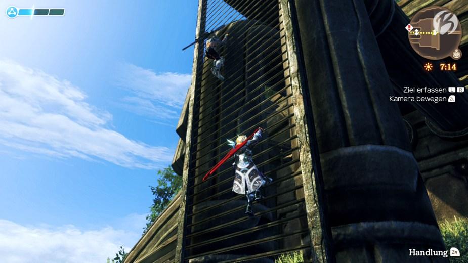 Xenoblade Chronicles: Definitive Edition - Im Verhältnis zu den Titanen sind wir winzig - da hilft nur klettern, schwimmen und fliegen.