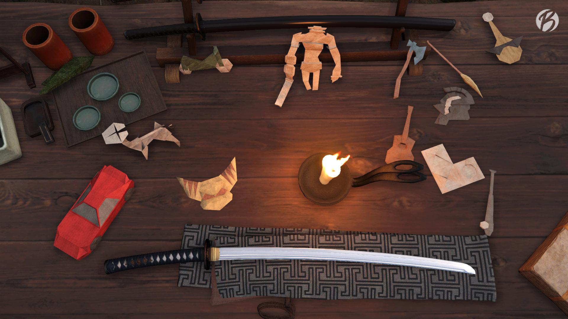 Ghost of Tsushima - Origami Figuren bekannter Studios und PlayStation Exklusivtitel.
