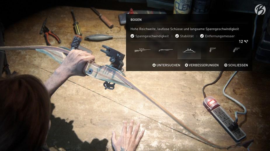 Ellies Bogen mit allen Erweiterungen, gehört für mich zu den besten Waffen im Spiel.