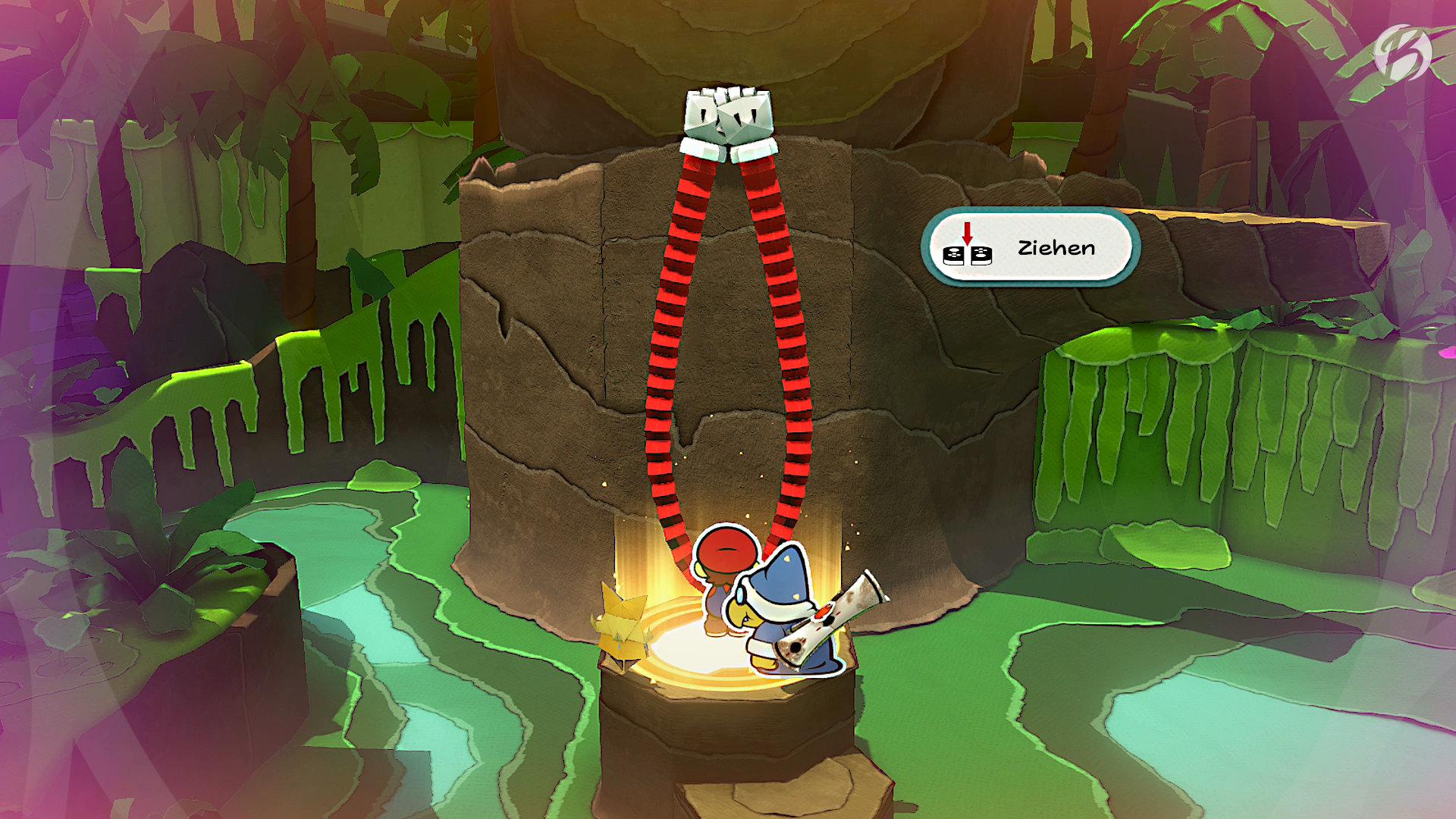 Paper Mario: The Origami King - Super Power! Mit Marios Faltarmen schaffen wir uns neue Wege.