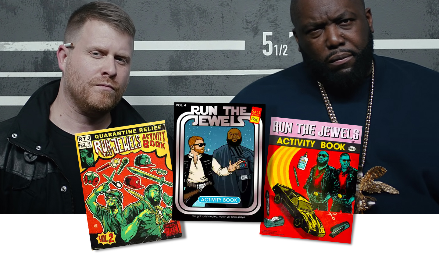 Quelle: YouTube & Run the Jewels; Composing: rushBfast - RTJ Activity Books