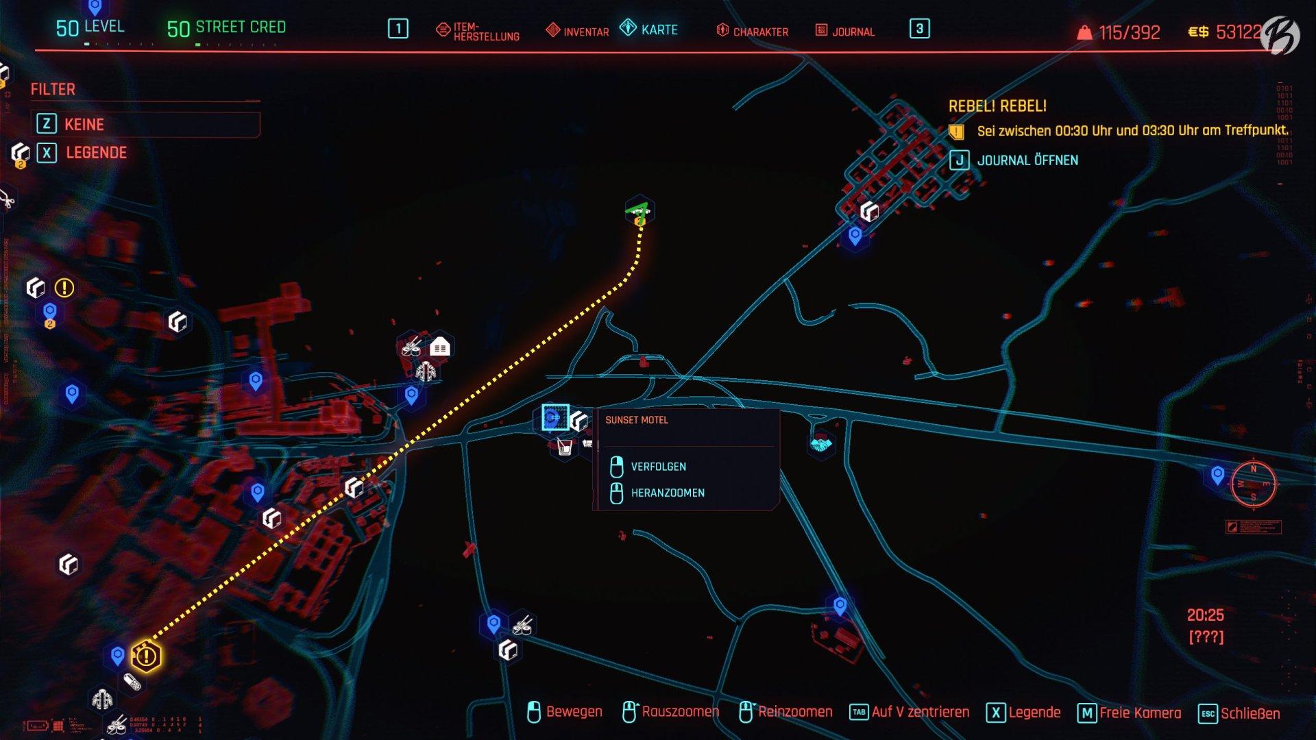 Cyberpunk 2077 - Der geheime Standort der Murk-Man Höhle.