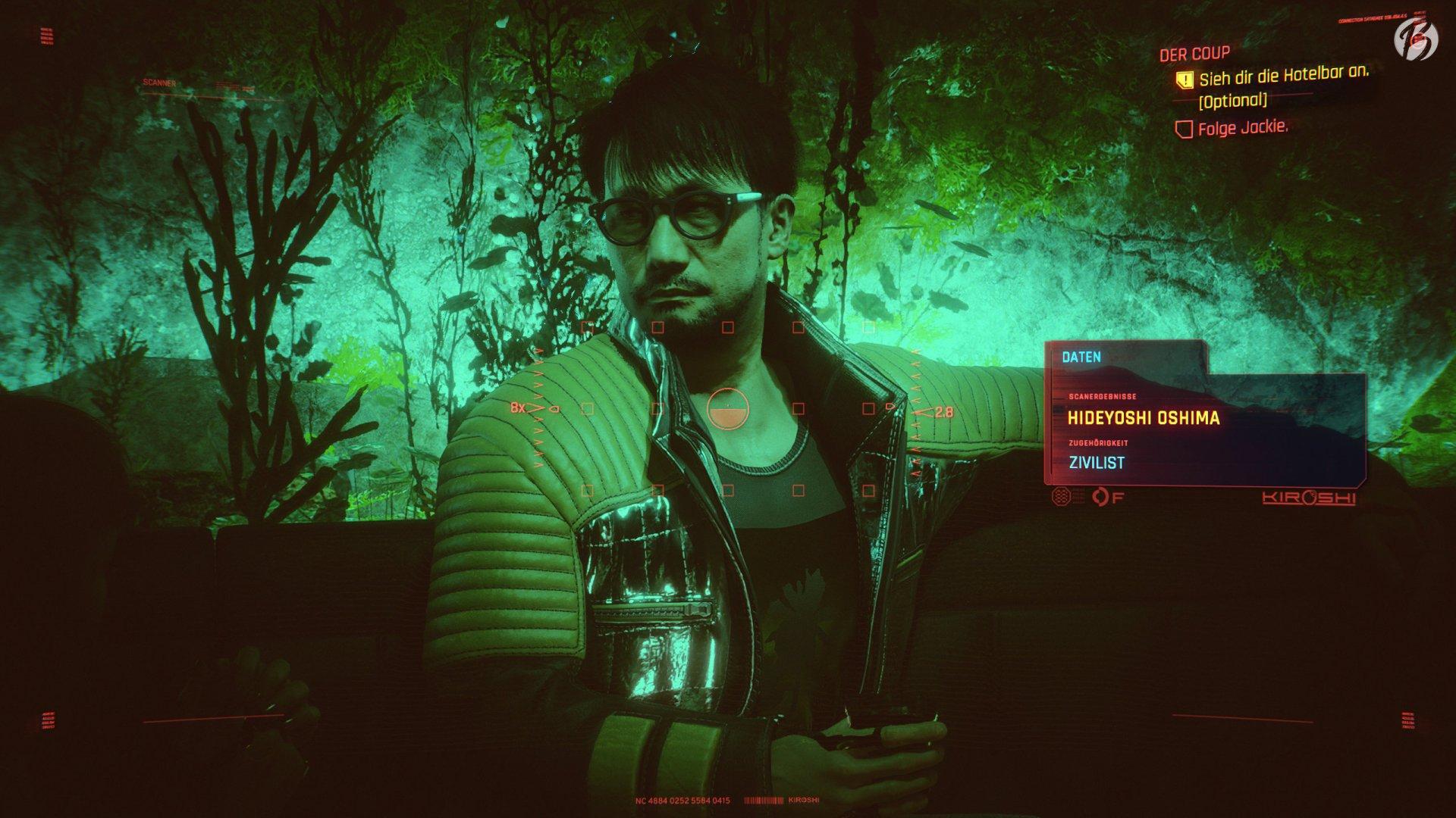 Cyberpunk 2077 - Hideo Kojima versteckt als NPC Hideyoshi Oshima