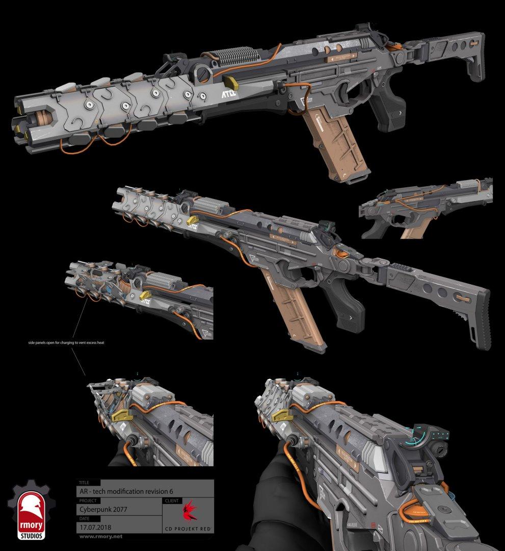 Quelle: Artstation - Kris Thaler - Cyberpunk 2077 AR Tech 3D Modell