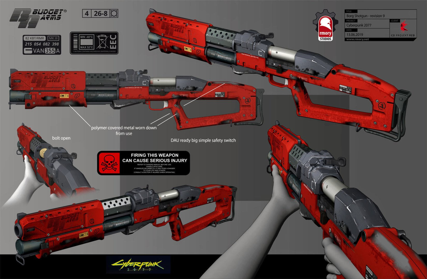 Quelle: Artstation - Kris Thaler - Cyberpunk 2077 Borg Shotgun