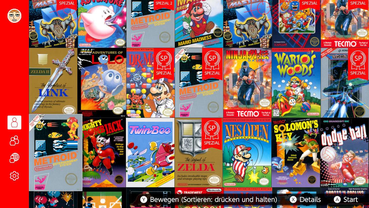 Nintendo Switch Online - NES Spieleauswahl (Danke Nashi für den Screenshot)